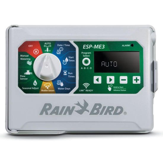 Rain Bird ESP-ME3 4 Station Modular Controller + Hard Wired Rain Sensor