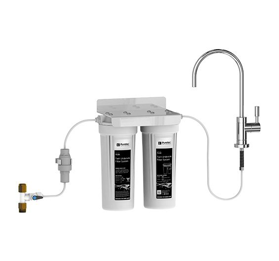 Puretec TS Series Twin Undersink Water Filter System, Cyst Reduction
