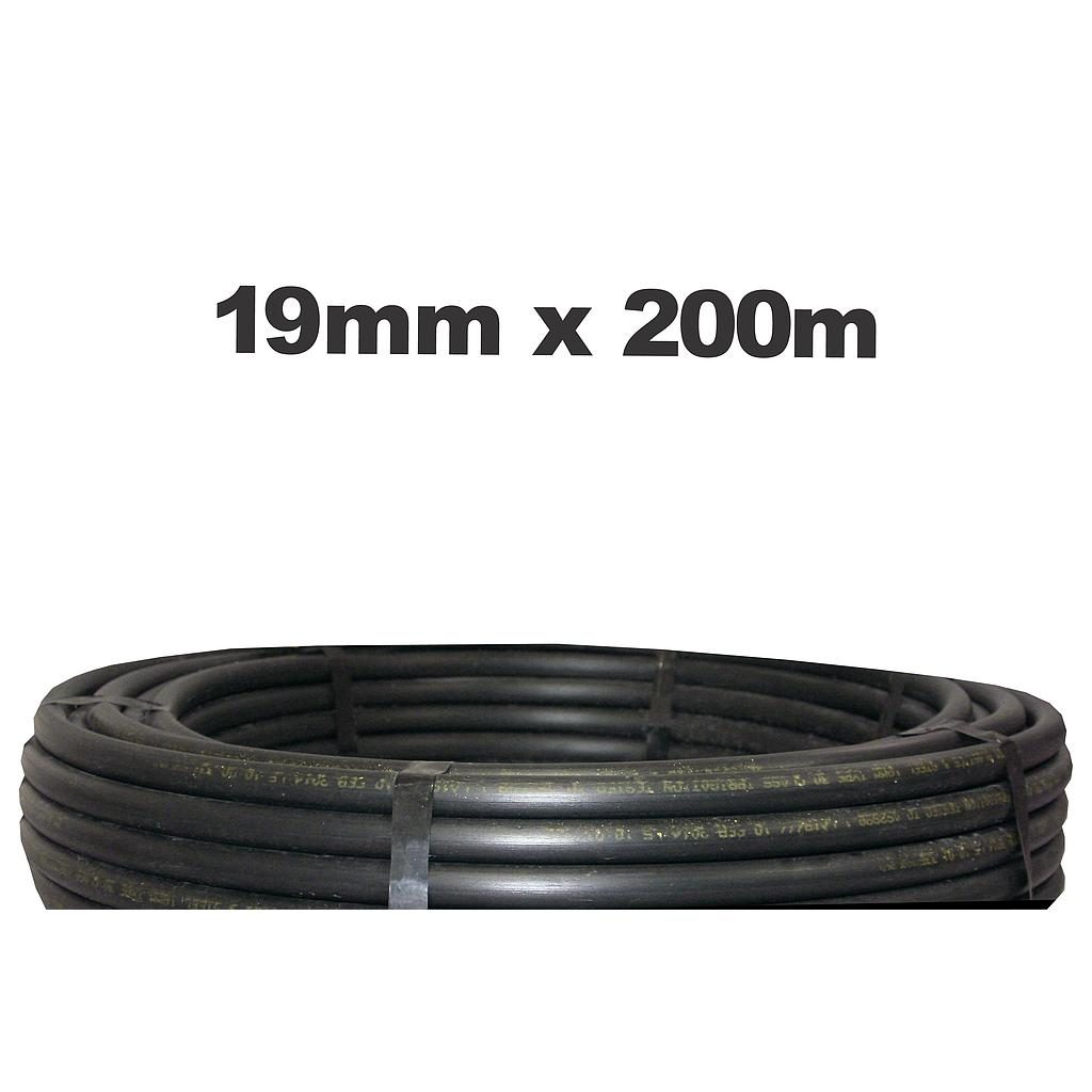 Poly Pipe 19mm x 200m LD