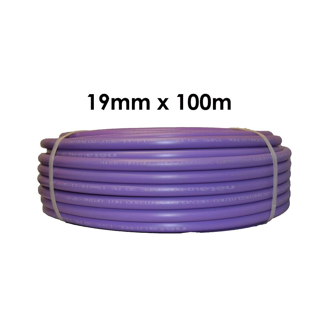 Poly Pipe 19mm x 100m Lilac LD