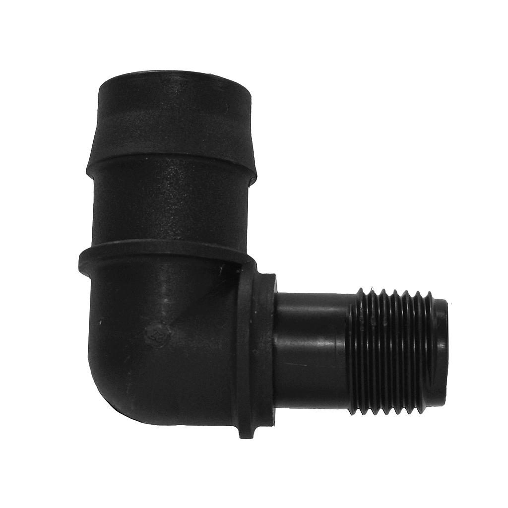 E10G12M 25mmPx15mmMi Poly Elbow