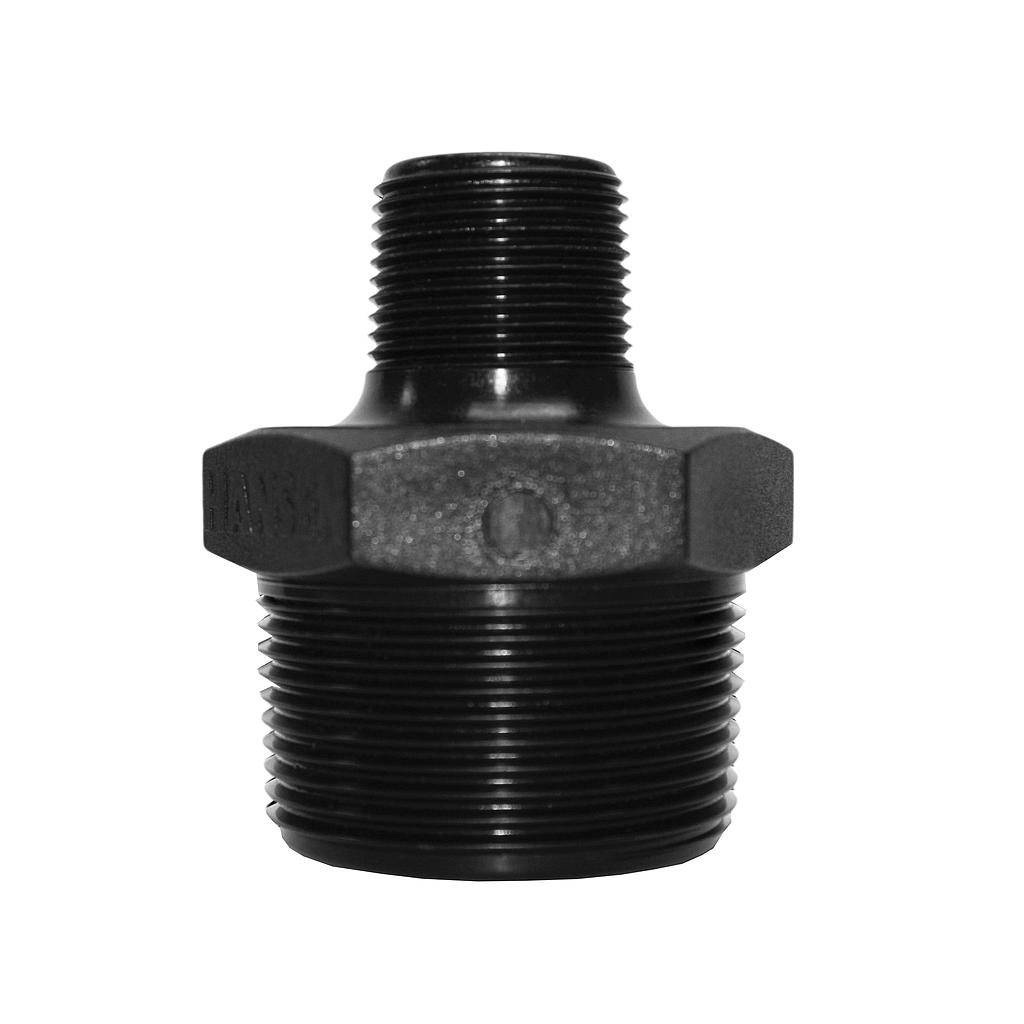 Poly Nipple Screwed 40mmx20mm