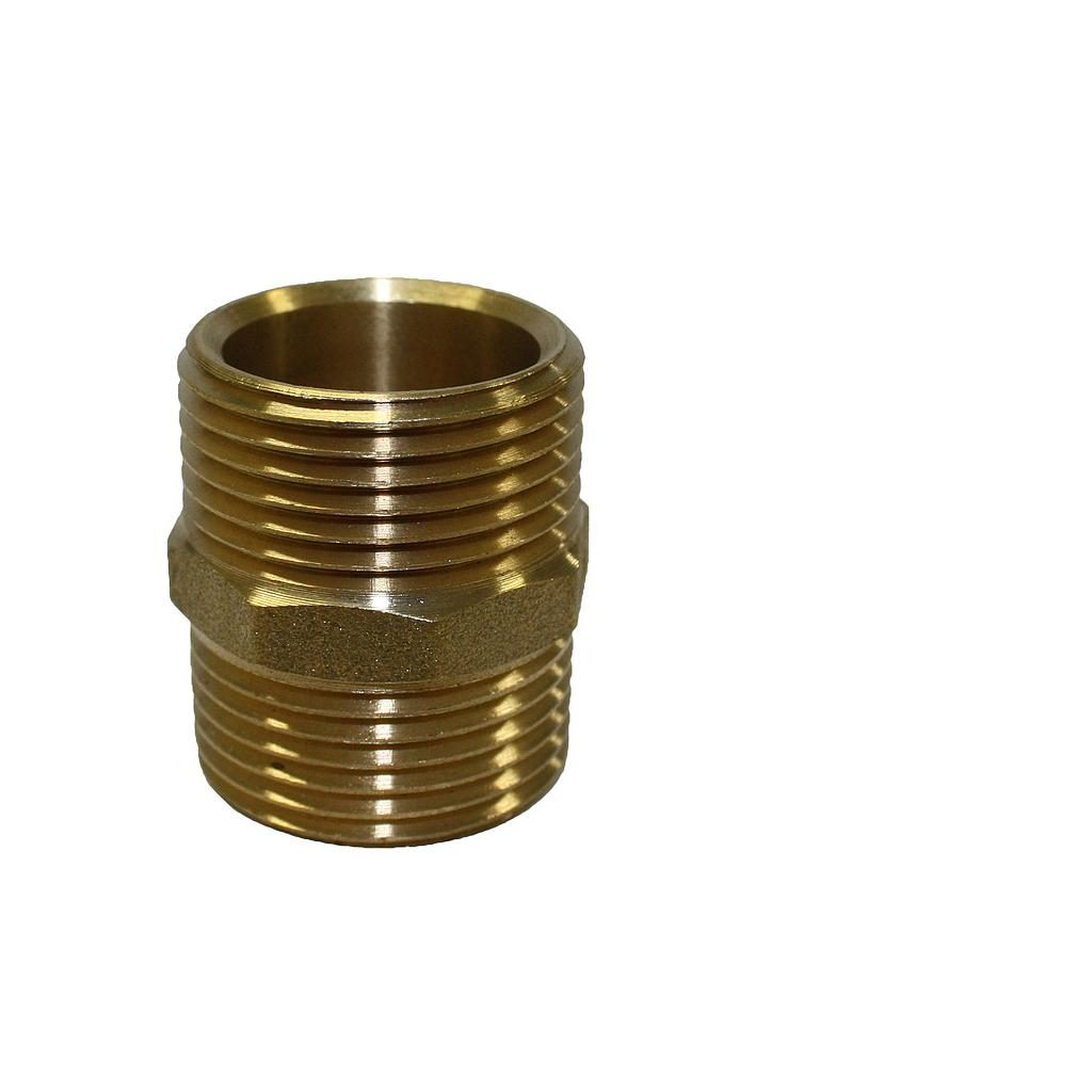 Brass Nipple 20mm x 20mm