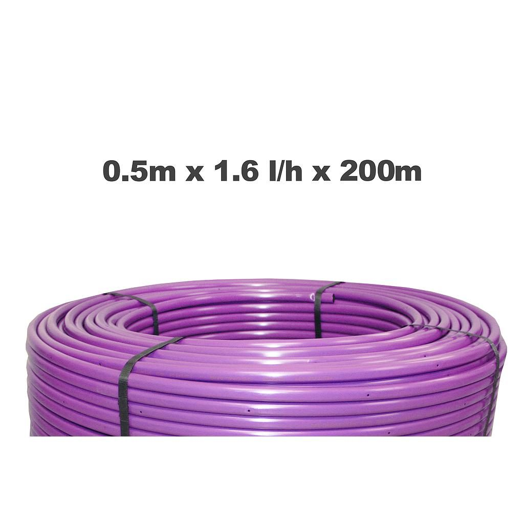 Netafim Techline AS 0.5m 1.6LPH 200m Purple
