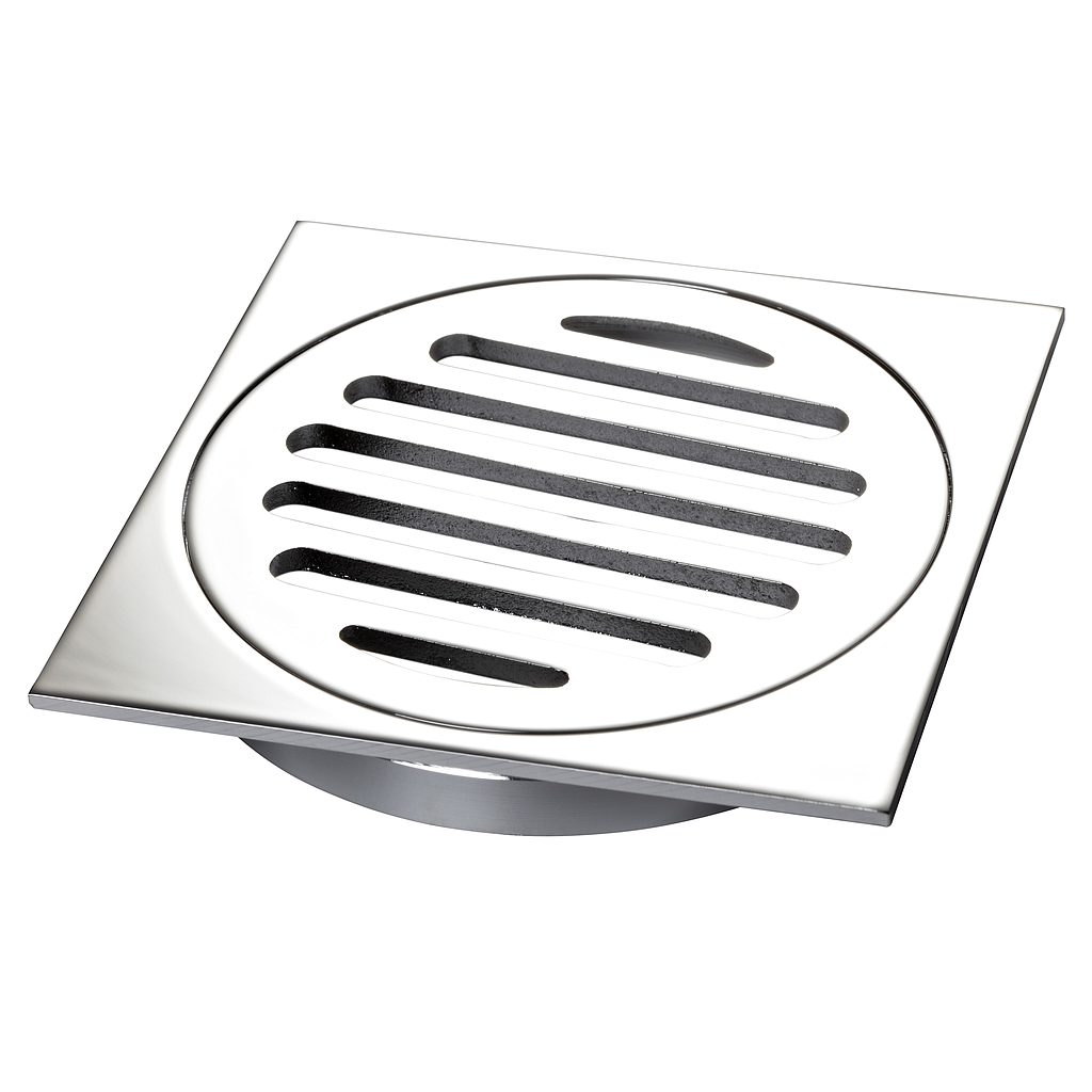 Grate Stormwater 80mm Square Chrome