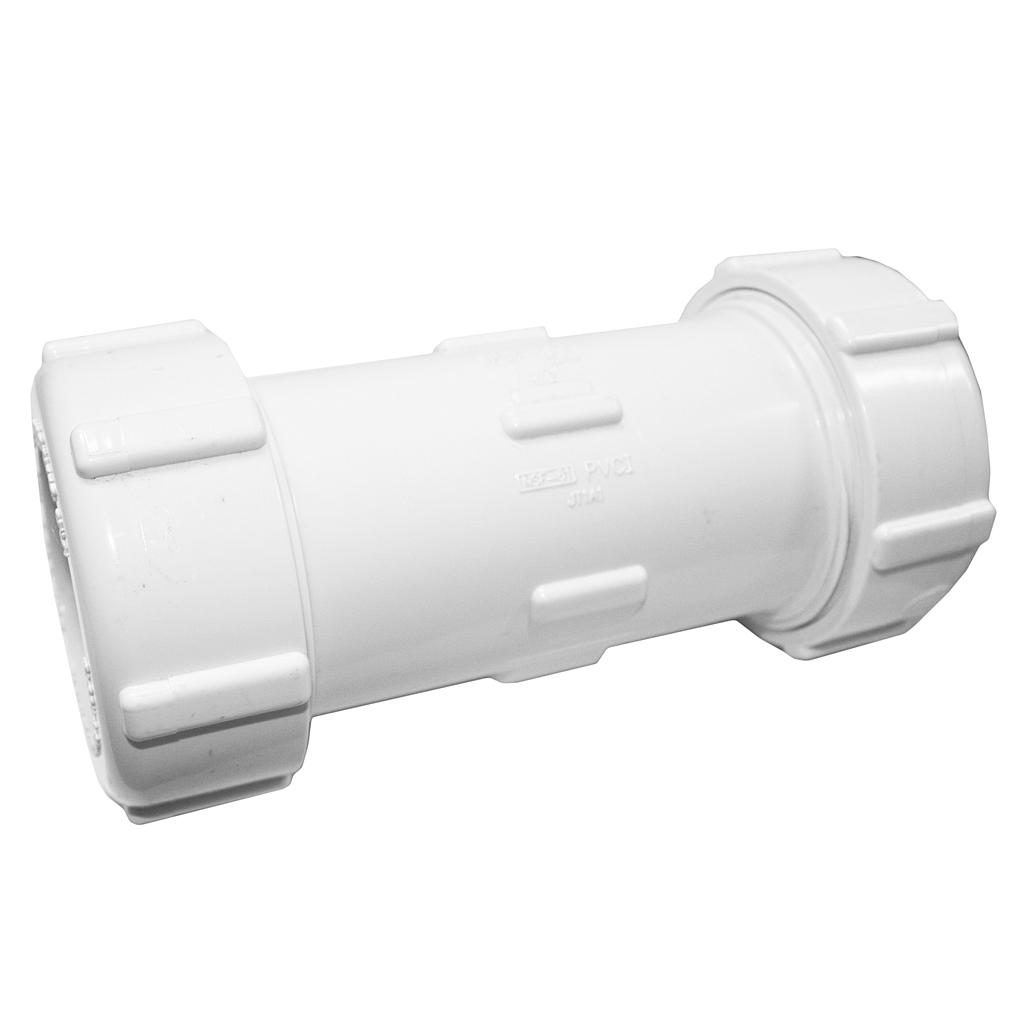 PVC Compression Coupling 40mm